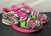 Asics T6K8N FuzeX Pink Green Athletic Running Gym Training Shoes Women Size 7.5