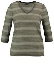 Samoon Shirt mit Streifenmuster by Gerry Weber Neu Damen V-Ausschnitt Gr.54