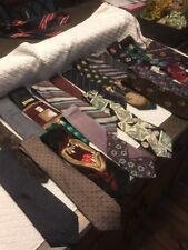 Lot 20 Mens Vintage Neckties Silk Polyester Character Mixed Neck Ties Unique A