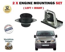 FOR NISSAN PRIMASTAR + VAN 2002-->NEW LEFT + RIGHT SIDE 2 X ENGINE MOUNTINGS SET
