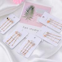 Accessories Pearl Hair Clips Barrettes Crystal Star Hairgrip Geometric Hairpins