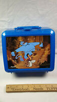 Aladdin Plastic Lunchbox Disney Blue No Thermos Bottle Rare Vintage 041604834516