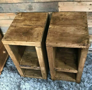 Rustic Handmade Bedside Tables, 30cm deep