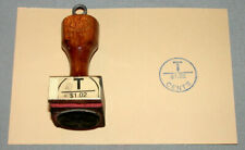Canada Postal Service Official Rubber $ 1.02 Wood Postal Due Seal Stamp