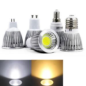 Dimmable LED COB Spot Lights Bulbs MR16 GU10 E27 E14 6W 9W 12W 220V Lamps Bright