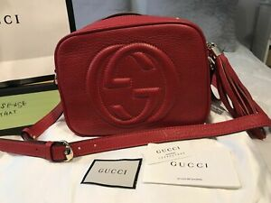 ✧✩✧✩✧✩✧✩✧✩Gucci Soho Small Leather Disco Bag 100% AUTHENTIC