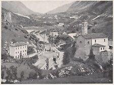 D2099 La valle del Meschio a Nove - Stampa d'epoca - 1923 vintage print