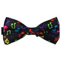 Music Adjustable Neck Novelty Gentlemen Bow Tie Two-layer Fashion Black