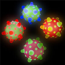 WHOLESALE LOT OF 12 SPACE LIGHT-UP METEOR BALLS! space bounce birthday toys glow