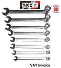 Yato Professional Heavy Duty Open End Swivel Head Socket Wrench Each Size 8-19mm