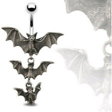 Triple Vampire Bat Belly Ring Navel Naval Gothic Halloween (w466)