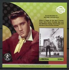 Liberia 2017 MNH Elvis Presley His Life in Stamps Hound Dog Record 1v S/S III