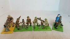 4 Britains Toy Soldiers- World War 2 Guns And Crew (160)