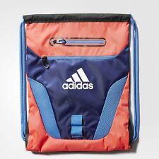 Adidas Rumble Sackpack Shock Red Athletic Backpack Drawstring Sport Bag BA1673