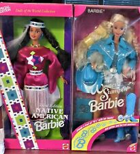Native American/Western Stompin' Barbies--never removed from boxes