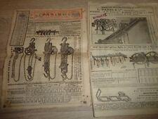 1886 CATALOGUE SUR LES PALANS - TREUILS - FORGE VOLANTE - VENTILATEURS  (ref 64