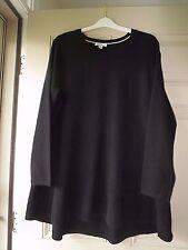 NWOT Womens Isaac Mizrahi Live! 2-Ply Cashmere Peplum Tunic Sweater - Black- M
