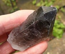 LARGE SMOKEY QUARTZ CRYSTAL ROUGH RAW UNPOLISHED POINT BRAZIL 67mm BAG & ID CARD