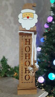 LED Light Up Wooden Christmas Table Mantle Window Xmas Decoration Santa Snowman