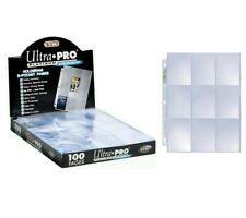 ULTRA PRO 9-Pocket Platinum Card Display Binder Pages 3-ring Hologram Clear