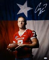 Case Keenum Autographed Houston Cougars 16x20 Flag Photo- JSA W Authenticated
