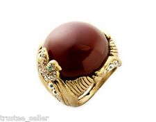 NWT Juicy Couture 'Modern Vintage Nostalgia' Red Agate Sparrow CZ Cocktail Ring