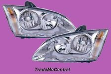 Ford Focus LS LT Chrome Head Lights Right Left Side 2005 2006 2007 2008 2009 NEW
