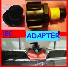 Thread  Adapter IBC 1000 Lt Water Tank-Garden Hose Adapter Fitting Sale Lot of 2