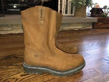 Mens Leather Wolverine Boots Size 10
