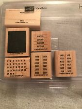 Stampin Up It's A Date Set Of 6 Wood Mounted Rubber Stamp Su Scrapbooking 2005