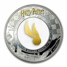 HARRY POTTER  THE GOLDEN SNITCH 5$ SAMOA 2 oz SILBER + 0,2g GOLD 2020