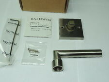 Baldwin Reserve Square Rose Half Dummy Lever Set RH Satin Nickel 9BR3500-028