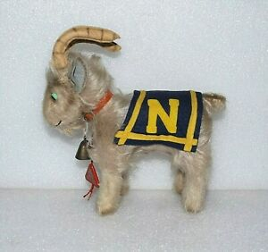 VTG 1950's FOOTBALL STUFFED ANIMAL Naval Academy Mascot MOHAIR BILLY GOAT RAM