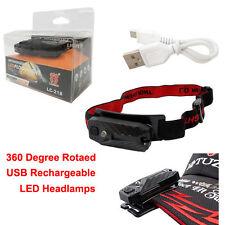 360 Degree Rotaed Waterproof Rechargeable LED Headlamp Swivel Bracket Work Light