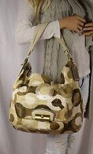 COACH LEATHERWORKS Kristin XLarge Signature Op Art Sequin Hobo Shoulder Handbag