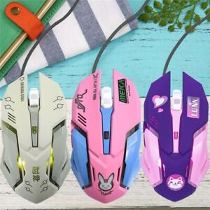 New Overwatch Wired Gaming Mouse D.Va LUNA Mouse Cute 3200dpi Gaming Mouse Gifts