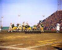 CFL 1970 Clarke Stadium Eskimos vs Stampeders Color Game Action 8 X 10 Photo Pic