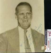 George Sisler JSA Coa Hand Signed 5x6 Photo Autograph