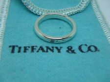 Tiffany & Co. Sterling Silver Diamond Stacking Ring size 4.5