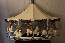 Vintage 1979 Circus Animal Carousel Baby Nursery Merry Go Round Wall Plaque Art
