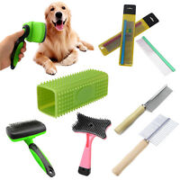 Pet Grooming Brush Comb Self Cleaning Dog Cat Removing Hair Slicker Brushes Tool