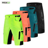 Cycling Baggy Shorts Mens MTB Mountain Bike Sports Short Pants Underpants Padded