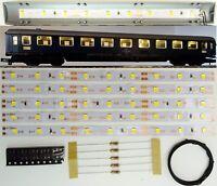 5 Stück 150mm LED Waggon Innenbeleuchtung Warmweiß Bausatz Analog/Digital C3209