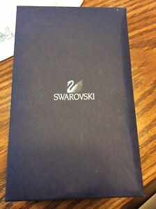 Swarovski Crystal Blue Tulip in original box.