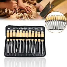 12PCS Wood Carving Hand Chisel Tools Woodworking Professional Gouges Steel Set