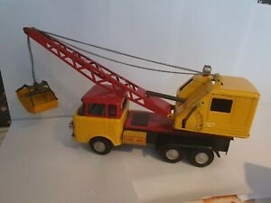 Marusan RARE tinplate Eagle Crane Truck