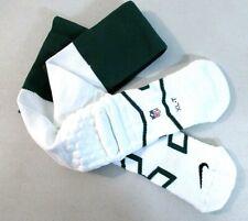 Nike NFL Sz XL Football SPORT Knee Socks White & Green 8491 []