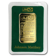1 oz Gold Bar - Johnson Matthey (Random Design, In Assay) - SKU #63887