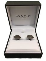 Lanvin Cufflinks Paris Oval - Silver/Grey - RRP £160 - Brand New