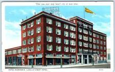 LaSALLE, Illinois  IL    HOTEL KASKASKIA   ca 1920s    Postcard